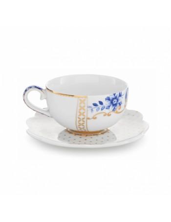Studio Pip tasse blanche royale et soucoupe