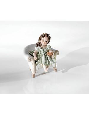 Sibania Lisetta figura de porcelana de printemps de recogida de silla de bebé