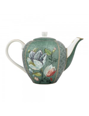 Pip Studio Theiera Tea Pot Spring to Life Green  -1600 ml