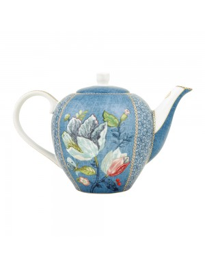 Pip Studio Theiera Tea Pot Spring to Life Blue -1600 ml