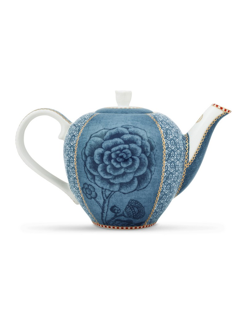Pip Studio Teapot Tea Pot Spring To Life Blue 1600 Ml