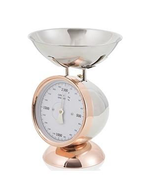 Brandani bilancia rose gold 2 kg in acciaio inox cm 16x17x28 h
