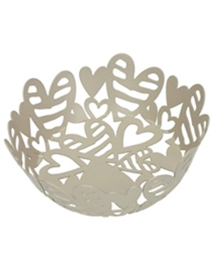 Brandani bread basket pounding dove in metal ø 21x7 cm h