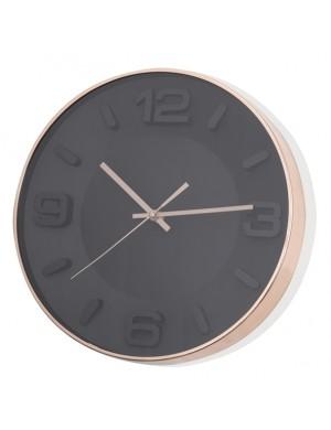 Orologio rose gold nero in plastica abs e vetro D 33,5