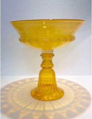 Raised yellow Murano Enzo De Gasperi