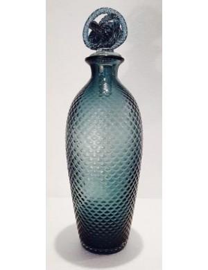 Bottiglia blu murano Enzo De Gasperi