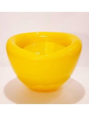 Vaso giallo piccolo con ripiego dentro  murano Enzo De Gasperi