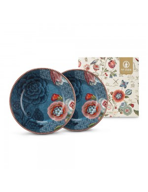 PiP Studio spring to life blue  set 2 plate dessert