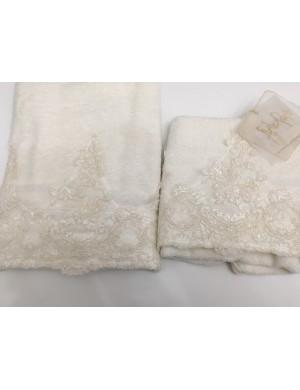 Coppia asciugamani Arte Pura