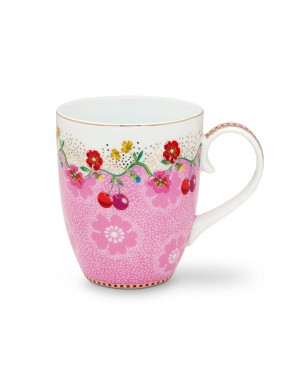 PiP Studio Floral Mug grande rosa ciliegia