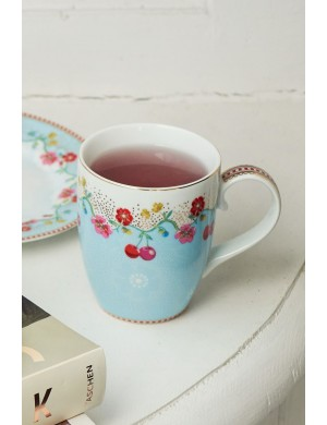 PiP Studio Floral Mug Large Cherry blue
