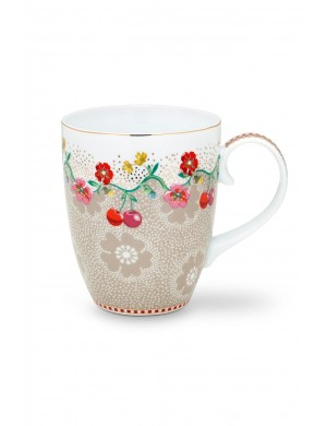 PiP Studio Floral Mug grande cachi  ciliegia