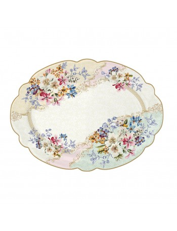 Plato de servir ovalado de porcelana Easy Life