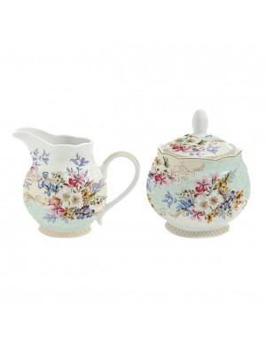 Easy life porcelain sugar bowl and milk jug LINEA ORIENTAL GARDEN