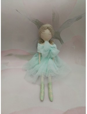 Ballerina doll in tulle and porcelain of capodimonte biscuit.
