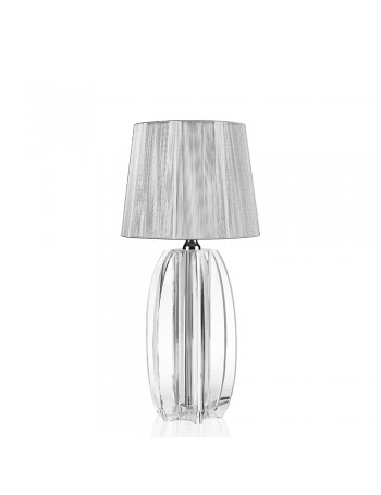 OTTAVIANI CRYSTAL LAMP WITH FABRIC HOOD h 37 cm
