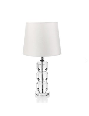 OTTAVIANI CRYSTAL LAMP WITH FABRIC HOOD h cm 48