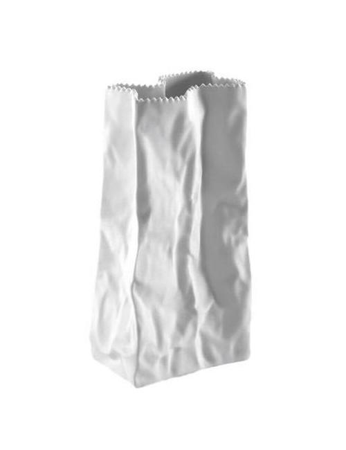 Vase Rosenthal Tütenvase Weiß glasiert White Porcelain