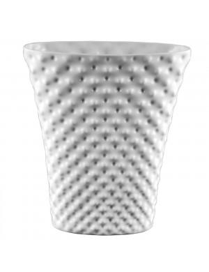 Vaso Rosenthal Vibrations Weiß Porcellana Bianca