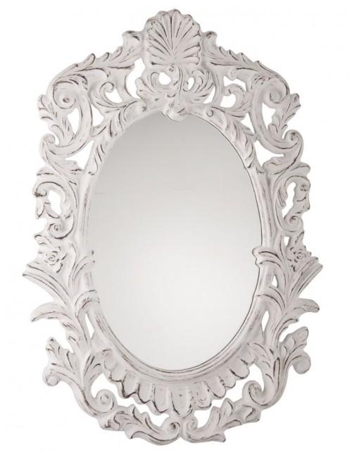 shabby mirror, white Provencal - Maison Bel