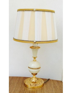 ACF objects of art Florence lamp limoge and gold, H 43 Cm