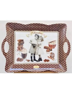 Vassoio Cassetta Easy Life Chocolate Vintage 53x38