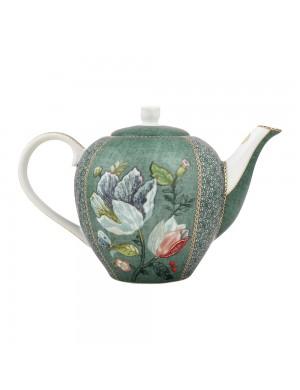 Pip Studio Theiera Tea Pot Spring to Life Green  -1600 ml