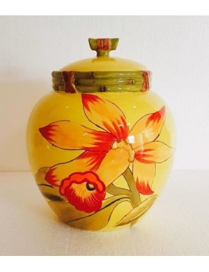 Yellow flower with airtight jar with certified gift