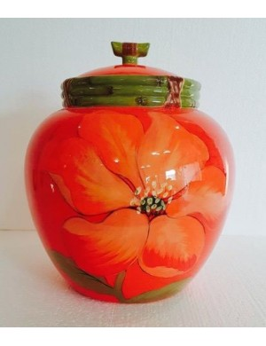 Jar with red flower with airtight certified gift