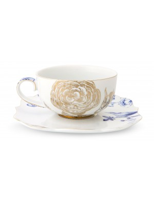 Pip studio royal white 6 cup the & saucers