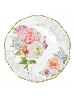 vie facile assiette à dessert en porcelaine lac romantique 19 cm