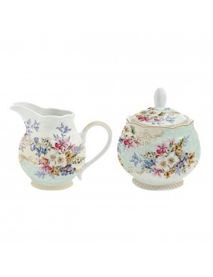 Easy life porcelain sugar bowl and milk jug LINEA ORIENTAL GARDEN