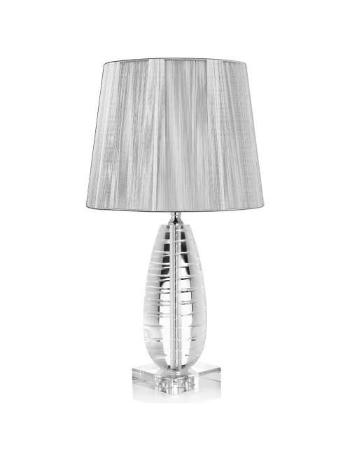 OTTAVIANI CRYSTAL LAMP WITH PLATINUM FABRIC HOOD H 44.5 CM