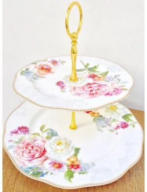 vie facile dosseret dentelle deux étages en porcelaine romantique